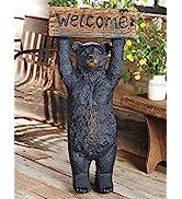 BLACK FOREST DECOR Large Welcome Bear Sculpture