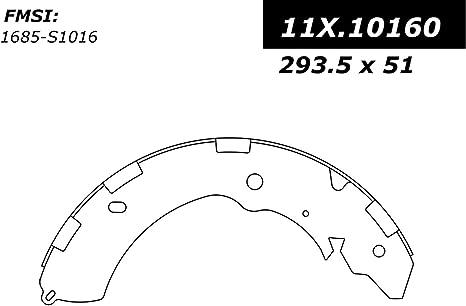Drum Brake Shoe-C-TEK Brake Shoes Rear,Front Centric 110.02280
