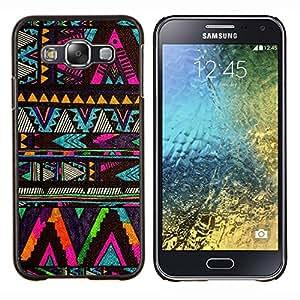 EJOOY---Cubierta de la caja de protección para la piel dura ** Samsung Galaxy E5 E500 ** --galón nativo patrón negro americano
