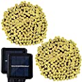 Solar String Lights, Lampat 300 Led Holiday String Lighting Outdoor Solar Patio Lights Fit Christmas Garden Wedding Party Landscape[Warm White], 2 Pack 600 LED
