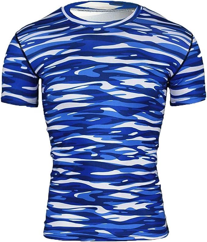 Farmerl Offer! Men Yoga Fitness Compression T-Shirts Base ...
