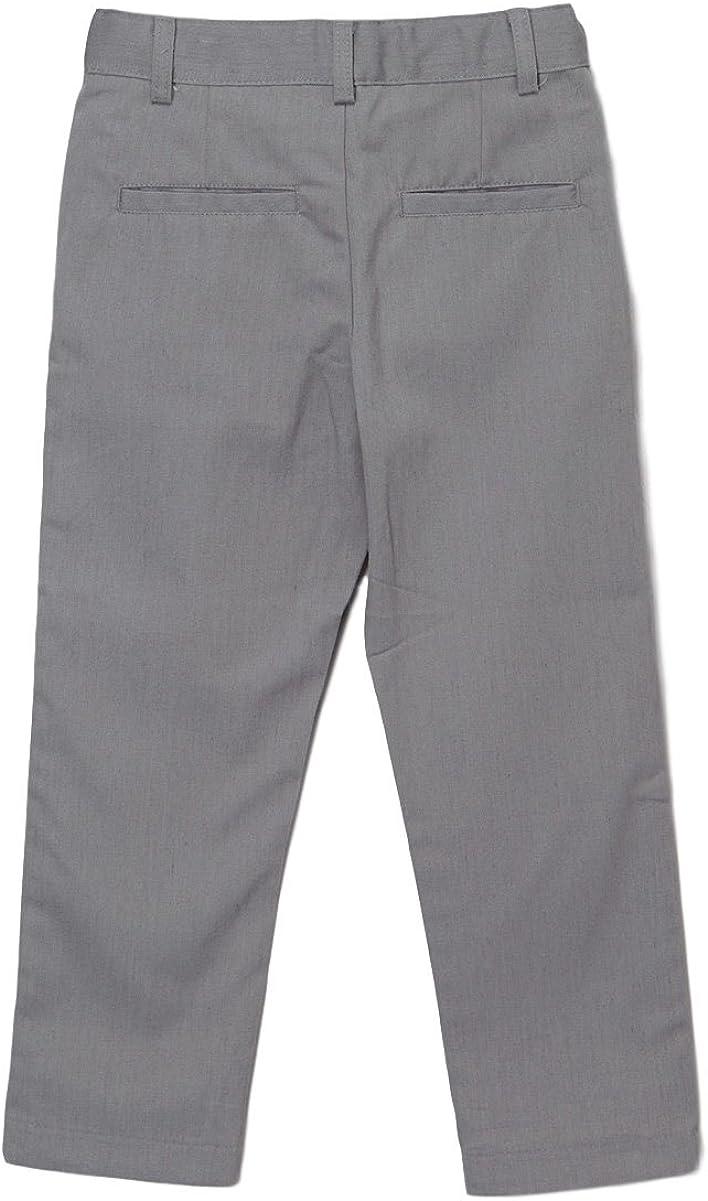 unik Boys Uniform Twill Pants Flat Front Pants