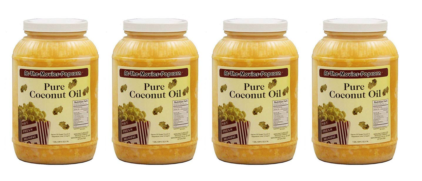 Coconut Popcorn Popping Oil (Case Of Four Gallons) by At-The-Movies-Popcorn