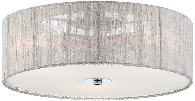 Possini euro design possini sheer silver fabric 16 flushmount possini euro design possini sheer silver fabric 16quot flushmount ceiling light aloadofball Choice Image