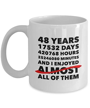Amazon Funny 48th Anniversary Mug Wedding Day 48 Years