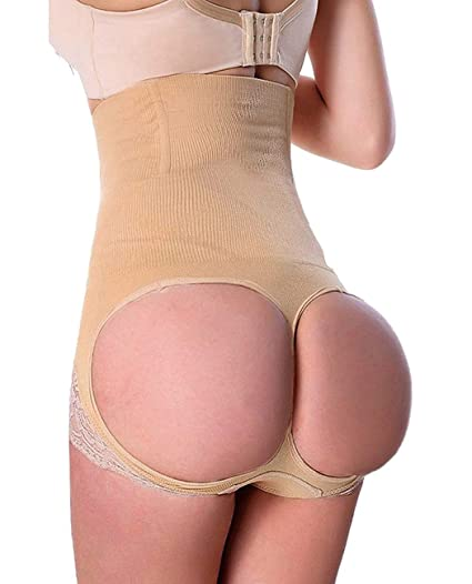 d7c56dd6e5547 FUT Womens Shapewear Tummy Control Shorts High-Waist Panty Mid-Thigh Body  Shaper Bodysuit at Amazon Women s Clothing store