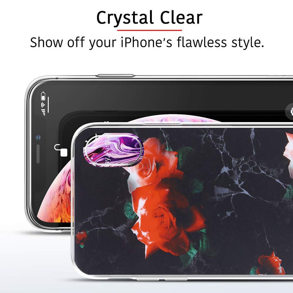 iPhone X, 16 H/ülle Compatible with Apple iPhone XS Max H/ülle Cover iPhone XS Handyh/ülle Transparent Weich TPU Silikon Schutzh/ülle f/ür Apple iPhone Xr Phone Marmor Muster