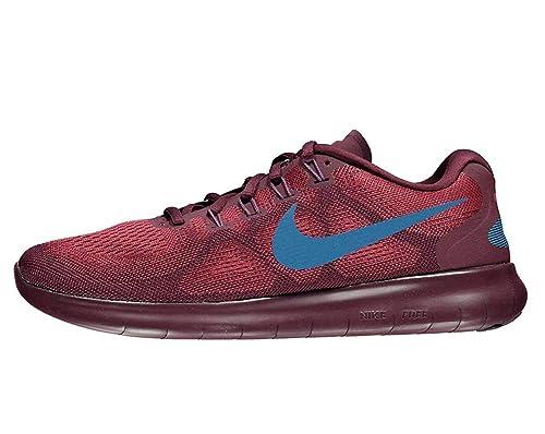 Nike Hombres Free RN 2017 Bajos & Medios Cordon Zapatos para Correr, Cedar/Industrial Blue, Talla 9: Amazon.es: Zapatos y complementos