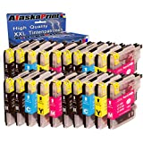 Premium Set of 20 compatible ink Cartridges Brother LC985 LC 985 LC985 XL for Brother MFCJ265W DCPJ140W DCPJ315W DCPJ515W DCPJ125 MFCJ220 MFCJ410 DCPJ415W Ink Cartridge 20xLC985Brother