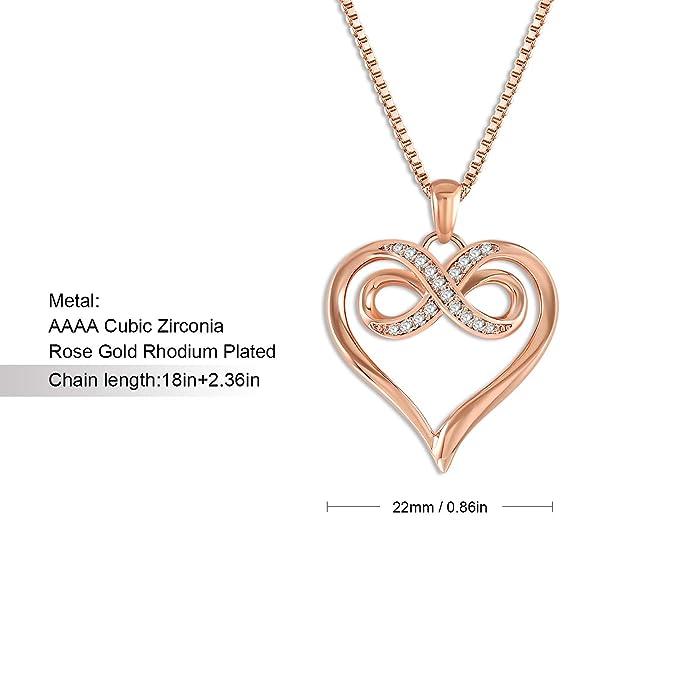 QLEESI Infinity - Collar de circonitas cúbicas para Mujer ...