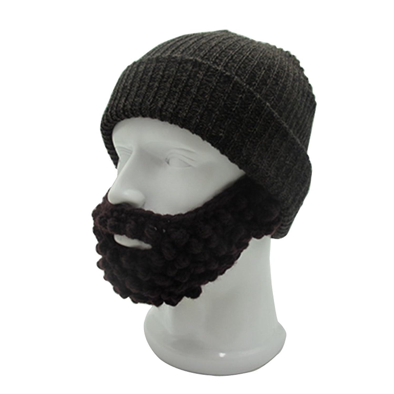 Kuyou Bartmütze Strickmütze Warme Beanie Skimaske Winter Hut