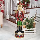 The Nutcracker Figures - Illuminated Bavarian-Style LED Christmas Nutcracker Soldier Statue - LED Holiday Decor Statue
