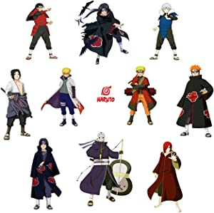 Naruto Wall Decals Anime Manga Bedroom Decoration for Boys Bathroom Wall Stickers 16x24 Inches Sasuke,Itachi,Kakashi Decor