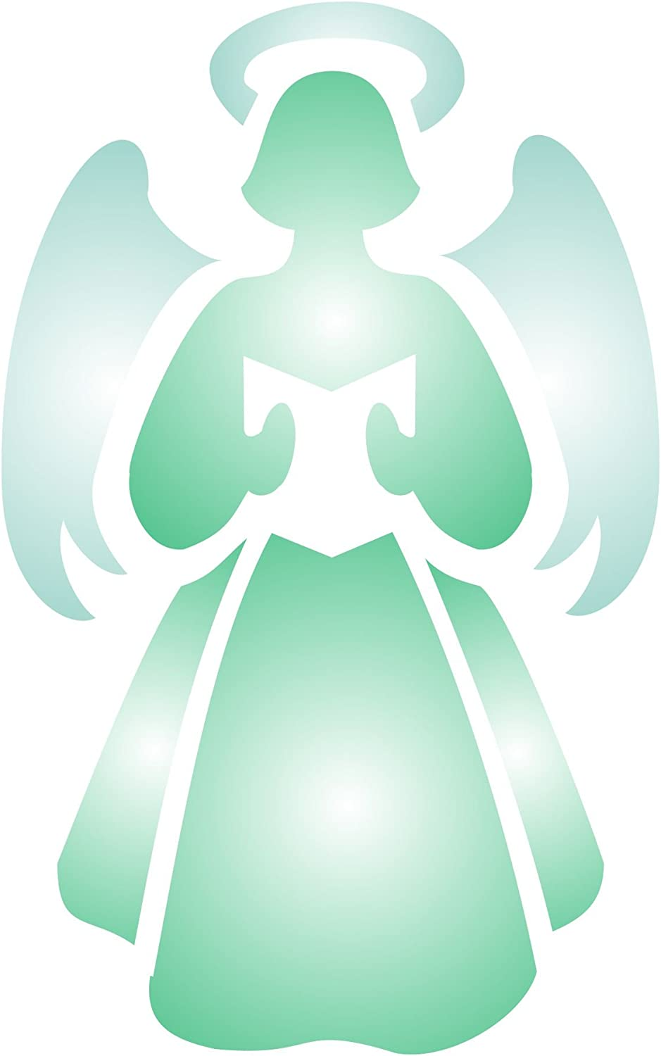 Christmas Angel Stencil, 3.25 x 5 inch (S) - Scrapbooking Decor & Card Stencils for Painting Template