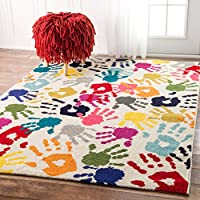 nuLOOM ECCR15A Contemporary Pinkieprint Kids Rug, 5' x...