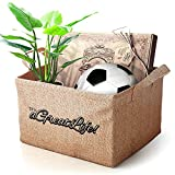 Large Jute Storage Bin with Free Bag: Best for Organizing Toys, Baby Clothes and Children's Books; Perfect for Household Items to Achieve a Clutter-Free Home; Durable and Eco-Friendly Storage Basket