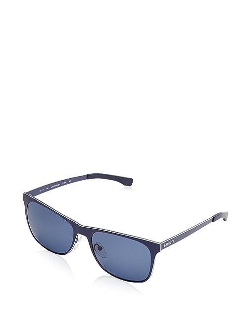 Metal Wayfarer Style Sunglasses in Matte Blue L169S 424 56 Lacoste owPUZT