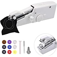 Portable Sewing Machine,Handheld Sewing Machine,MSDADA MiniSewing Machine for Home Travel Stitching,Quick Repairs,Fabric Sewing,DIY,Birthday,Children's Day Giftfor Kids&Adult(with 9 Pcs Bobbins)