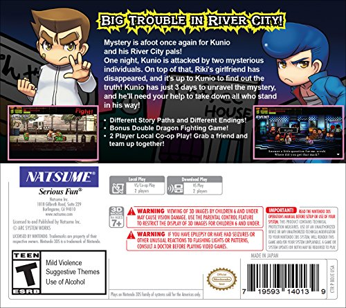 River city rival showdown limited riki keychain edition river city rival showdown 3ds trailer ccuart Images