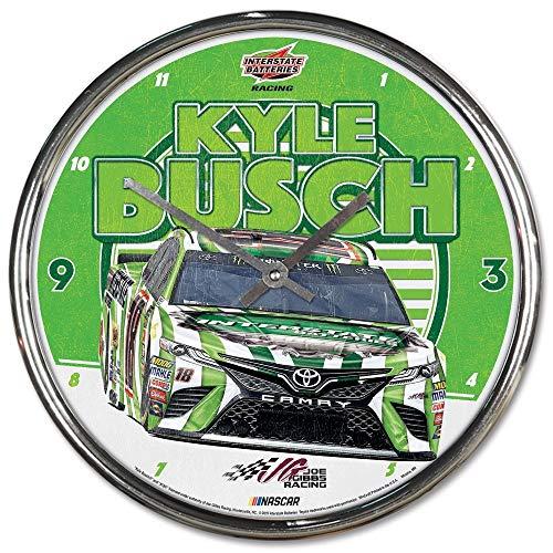 Win-craft Kyle Busch 2019 Interstate Chrome Plated NASCAR Wall Clock from WinCraft