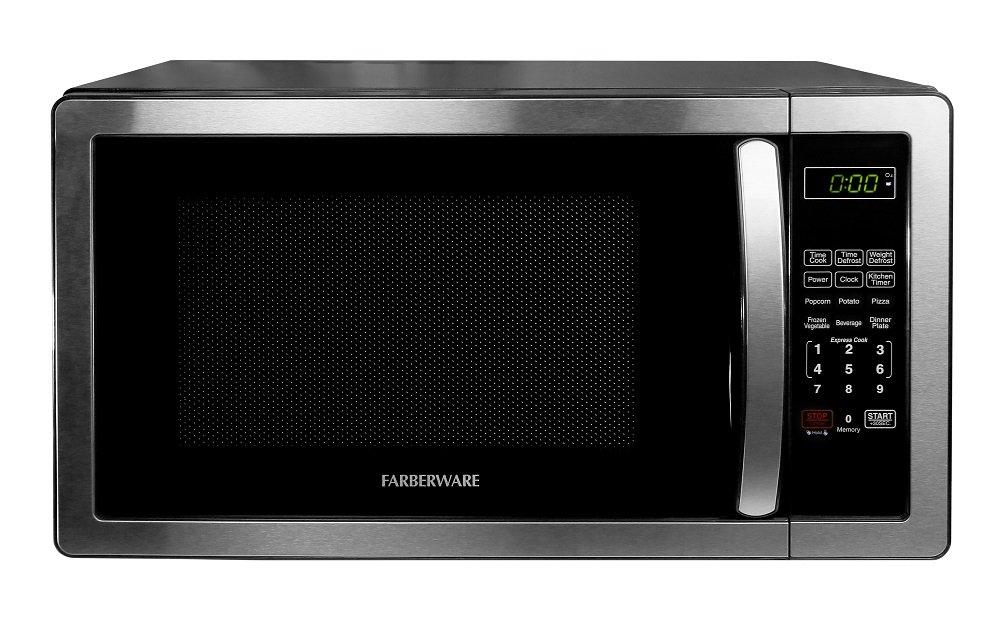 Farberware FMWO11AHTBKB Classic FMO11AHTBKB 1.1 Cubic Foot 1000-Watt Microwave Oven, Stainless Steel by Farberware (Image #6)