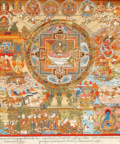 The Cosmos of Healing (Tibetan Medicinal Painting) - Tibetan Thangka Painting