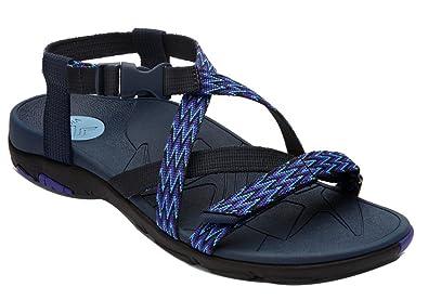 f1811a3f7fdf Vionic Womens Sage Dorrin Backstrap Sandal Navy Size 7