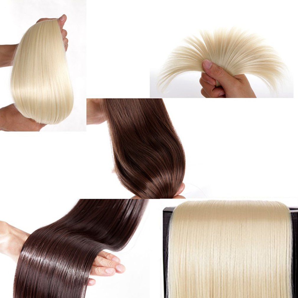 Clip in Hair Extensions Synthetic Full Head Charming Hairpieces Thick Long Straight 8pcs 18clips for Women Girls Lady (23 inches-straight, dark red) by Beauti-gant (Image #3)