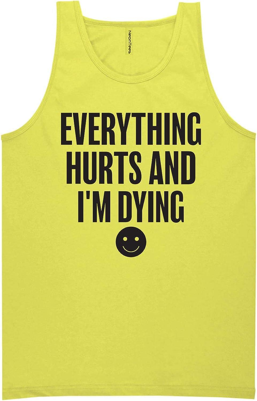 zerogravitee Everything Hurts /& Im Dying Neon Tank Top