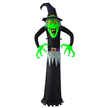 Seasonblow 8 Ft Halloween Inflatable Witch Ghost Decoration Airblown Blow Up Decor For Home Indoors Outdoors Yard Lawn Party Supermarket