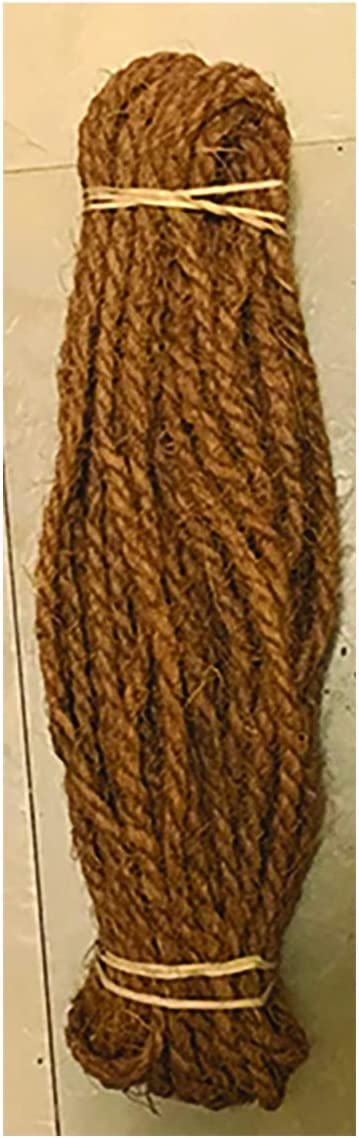 Happy House Tomato Tying Garden Twine Made of Premium Quality Coconut Fiber (Coir Fiber) Length Feet Diameter 5 mm Weight .4 oz,(for Sustainable Home Garden) 100 Feet from Our Own Productions