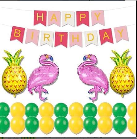 HANJIAJKL 26 Decoraciones de Feliz cumpleaños para niñas y ...