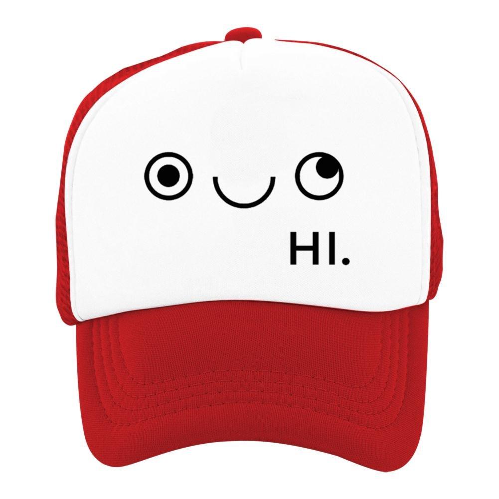 Kids Classic Smile Face Mesh Snapback Hats Adjustable Baseball Cap