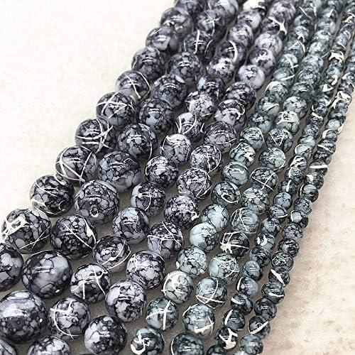 PPSM 4月6日/ 8/10ミリメートルDIYブレスレット&ネックレスを作るチャーム用ジュエリー塗装ダブル色ガラスビーズルースビーズスペーサー (Color : 20, Item Diameter : 8mm(30pcs))
