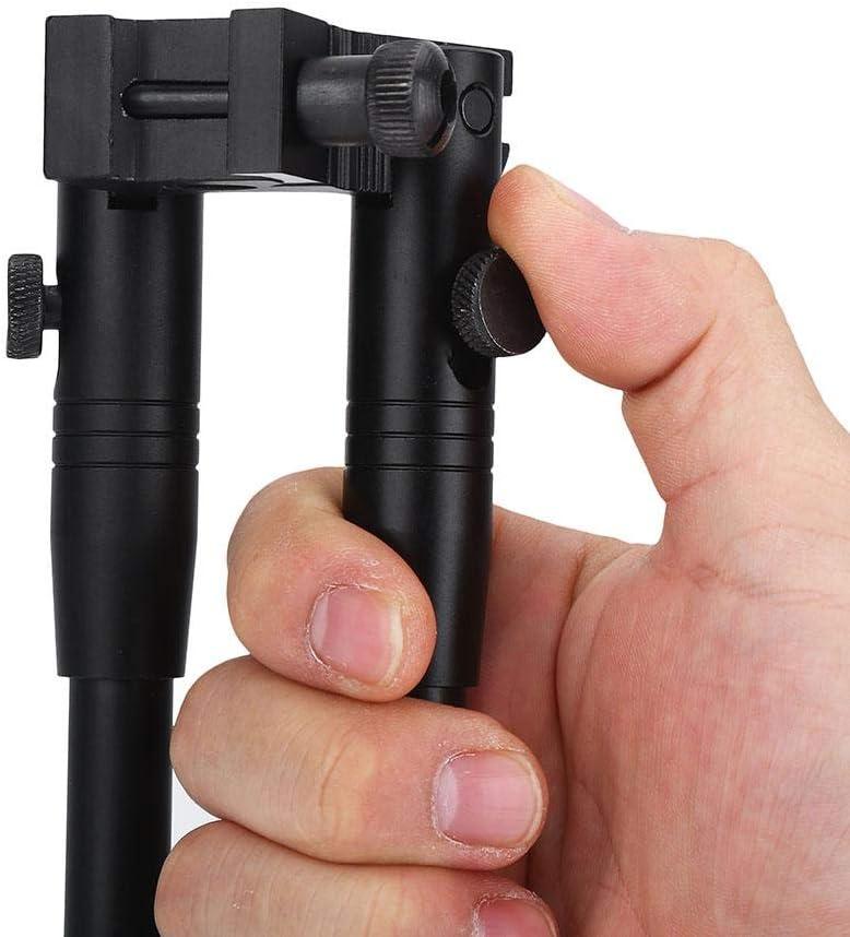 OKBY Zweibein Gewehr Verstellbares 6-9  Taktische Federr/ückstellung Schwenkhalterung f/ür die Gewehrjagd