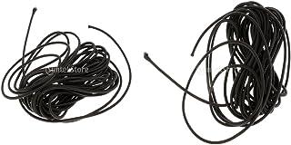 MagiDeal 2pcs Nero Elastico Bungee Corda Shock Cord Cravatta gi?5m Lunghezza 3mm Spessore