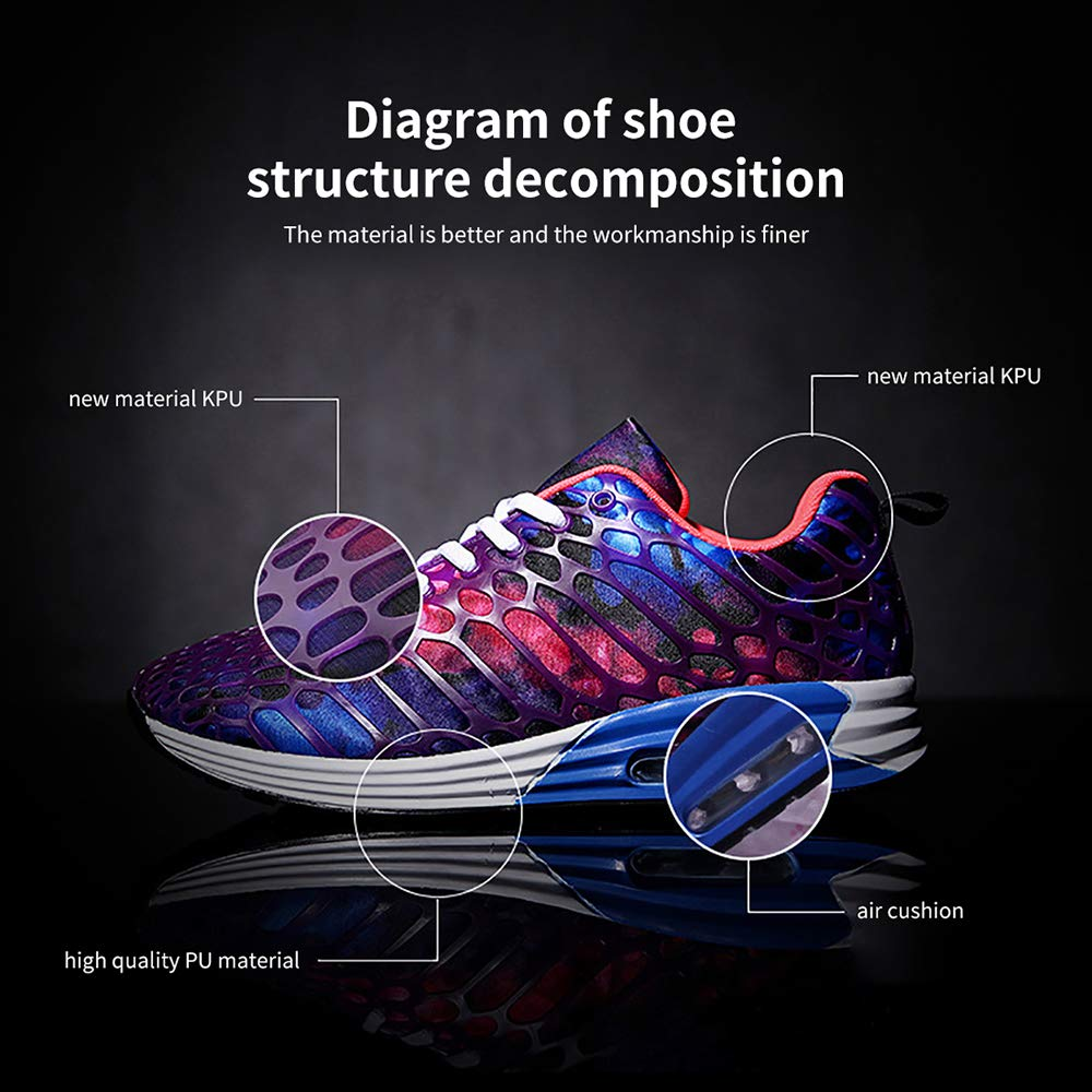Wonvatu Women Men Breathable Fashion Running Sneakers Comfortable Lightweight Walking Athletic Shoes