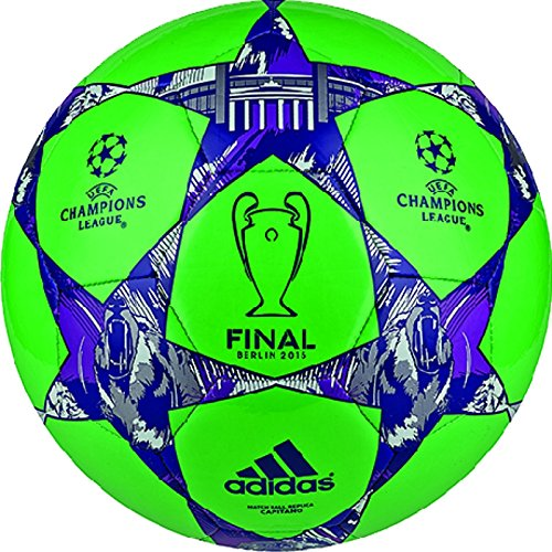 adidas Performance Finale Berlin Capitano Soccer Ball, Flash Green/Night Flash Purple/Flash Pink, Size 4 (Ball Finale Adidas)
