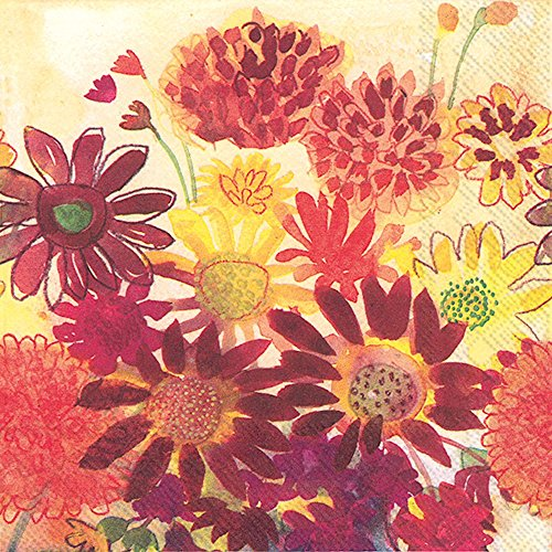 Ideal Home Range Lunch Napkins, Bunch of Fall Flowers ()