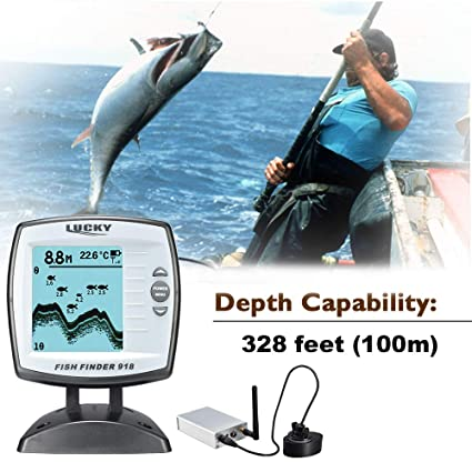 Buy Docooler Lucky FF918-WLS Fishing Finder 300m 980ft Depth