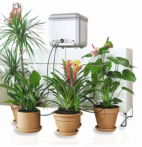 Claber 8053 Oasis 4-Programs/20 Plants Garden Automatic Drip Watering System