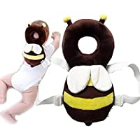 DaKos Baby Toddlers Head Protector for Baby Walkers (Age 4-15 Months) Ladybugs (Yellow and White)