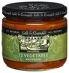 Sable and Rosenfeld 12 Vegetable Antipasto, 11.25-Ounce Glass Jars (Pack of 6)