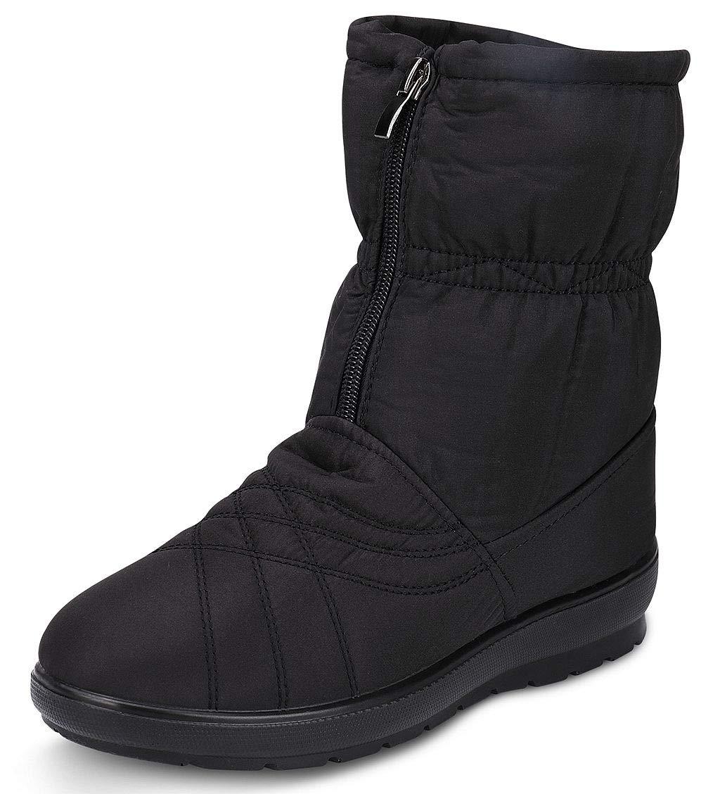 labato Women's Waterproof Wide Calf Winter Warm Ankle Snow