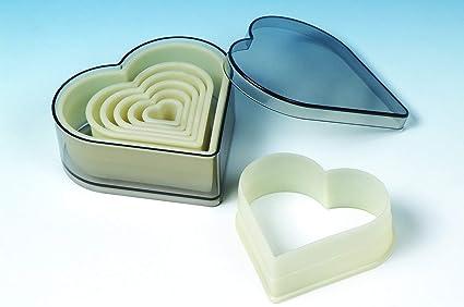 Moldes, Silicona 11 x 10 x 8 cm Calidad Forma de Corazón para Galletas Cortador