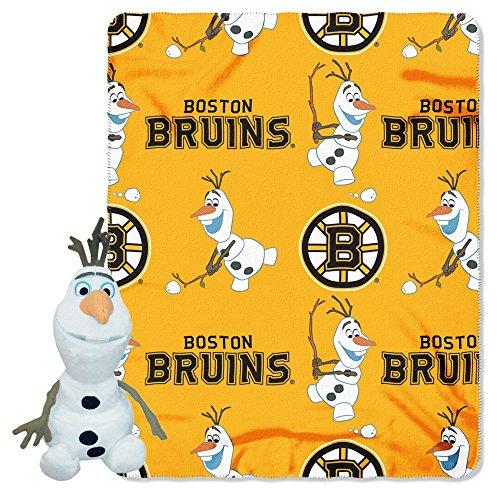 Boston Bruins Blanket (The Northwest Company Officially Licensed NHL Boston Bruins Co Disney's Frozen Olaf Hugger and Fleece Throw Blanket Set)