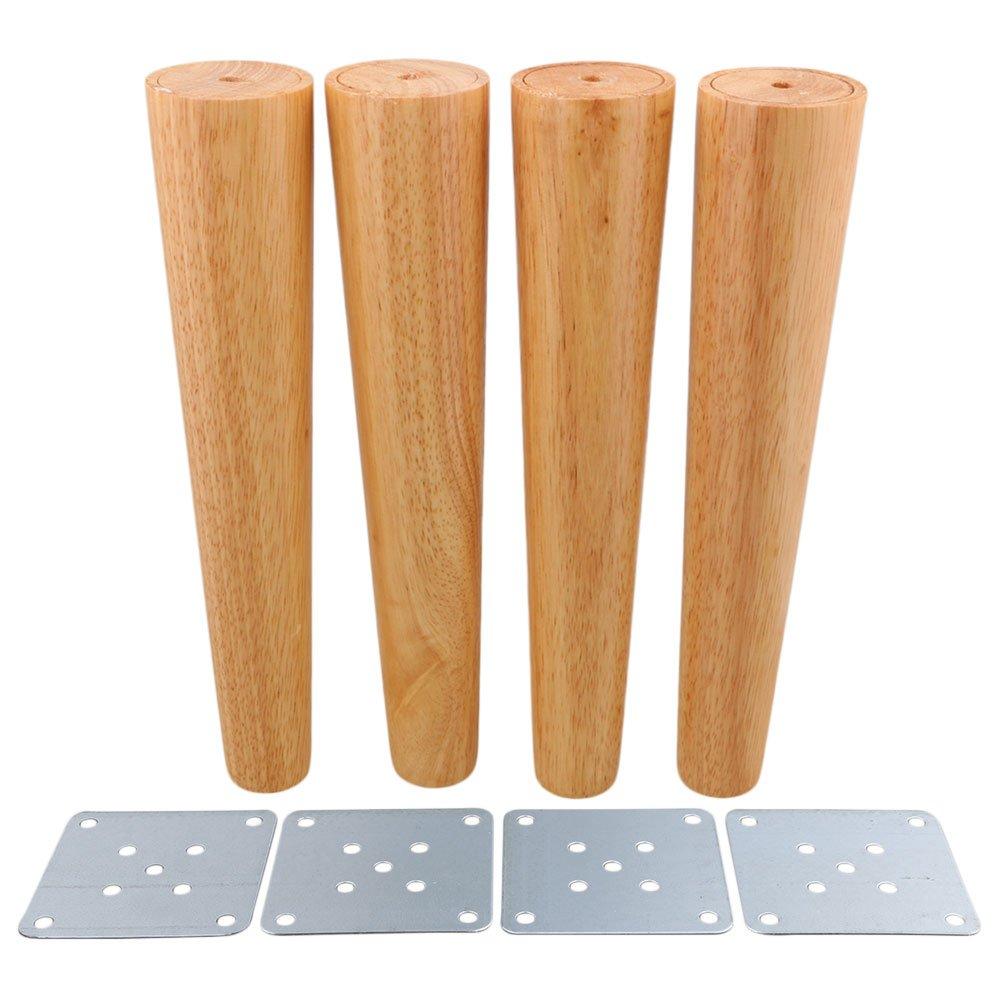 Lot de 4 pieds de canapé ou de meubles obliques en bois BQLZR , M4170724032