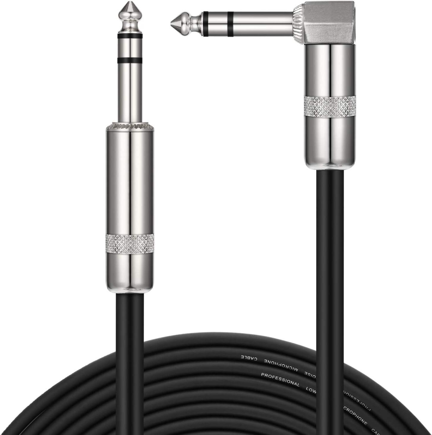 Donner TRS Cavo Audio 3M Cavo Stereo da 1//4maschio ad angolo retto a 1//4 TRS maschio dritto Cavo bilanciato