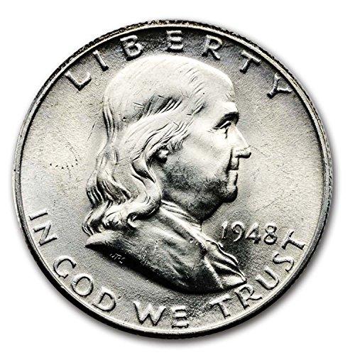 1948 D Franklin Half Dollar BU Half Dollar Brilliant Uncirculated