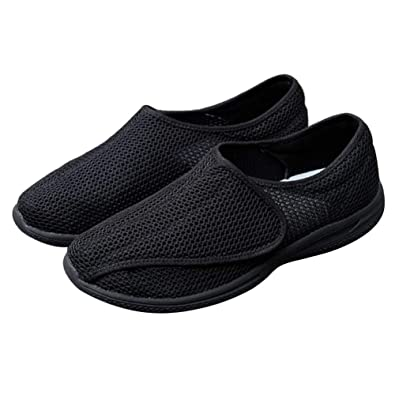 c12150f163c0 Image Unavailable. Image not available for. Color  MEJORMEN Mens  Comfortable Diabetic Shoes Adjustable Closure Lightweight Extra Wide ...